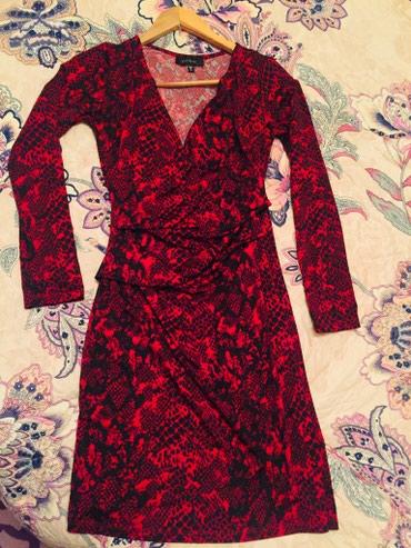 длинное красное платье с разрезом в Кыргызстан: Брендовое платье от Karen Kane со штатов, размер 44, новое, красное