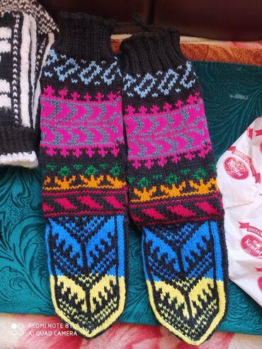 Беретка вязанная - Кыргызстан: Продаю вязанные носки. Очень тёплые. Село Будёновка