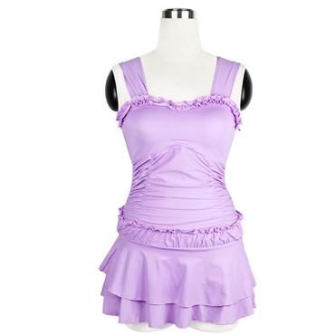 Купальник-48-размер - Кыргызстан: Сплошной,новый купальник платье,сиреневый,размер 48-50,лиф без