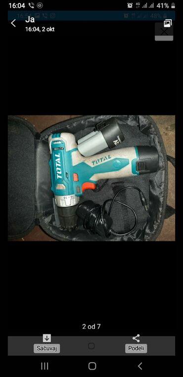 Kuća i bašta - Kostolac: Na prodaju aku busilica 12v sa dve baterije, punjacem i torbom