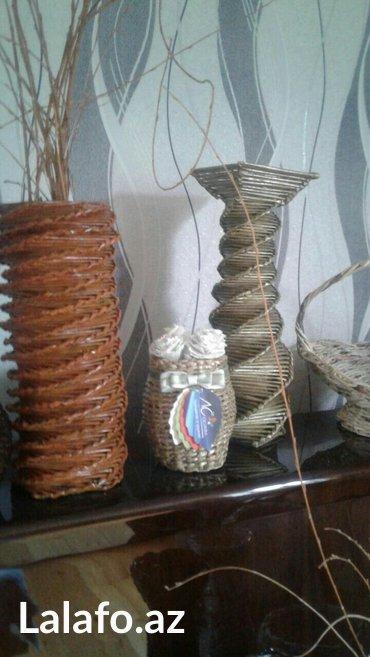 Şirvan şəhərində El ishidir her nov guldan ve sebet sifarishi gebul olunur muxtelif olc