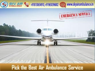 Sky Air Ambulance from Guwahati with Entire Required Medical System in Kamalamai