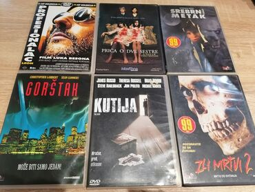 9285 oglasa: 6 original cd ova. Razni filmovi. U kompletu ima 6 cd-ova mogu se