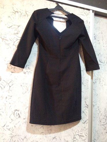 черное длинное платье в Кыргызстан: Продаю б/у платье черное, длина по калено. 1100