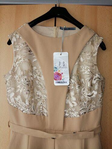 Farmericecine teksas - Srbija: Nov P.S. Fashion kombinezon bež boje sa detaljima od čipke. Veličina