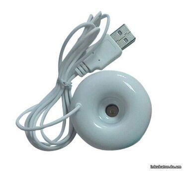 Увлажнитель воздуха от USB - Пончик, белый  Использовать аксессуар оче