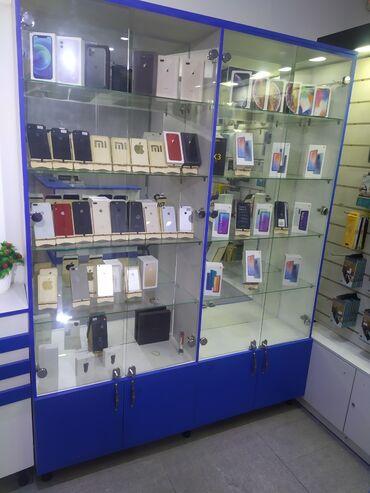 витрины для сотовых аксессуаров в Кыргызстан: СРОЧНО!!! Продаются: - новые, качественные, витринные шкафы с дверьми