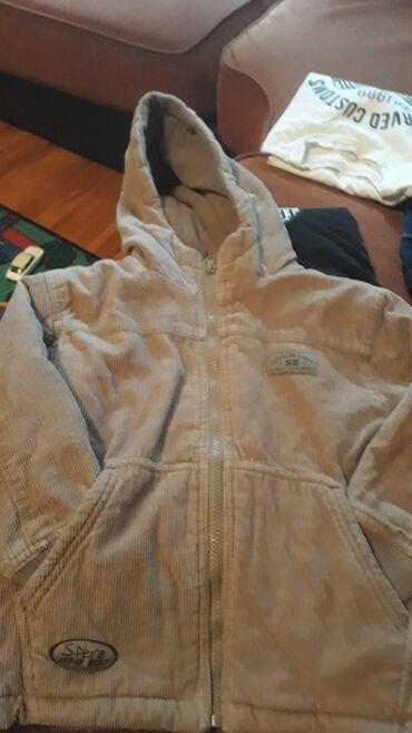 Dečije jakne i kaputi - Vrsac: Zimska,somotska jakna za decake  Vel.4-5 god. 98-112cm