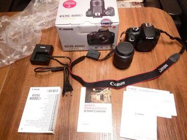 Teze model Canon 4000d+18-55 lensFotoaparat ideal vəziyyətde hec bir
