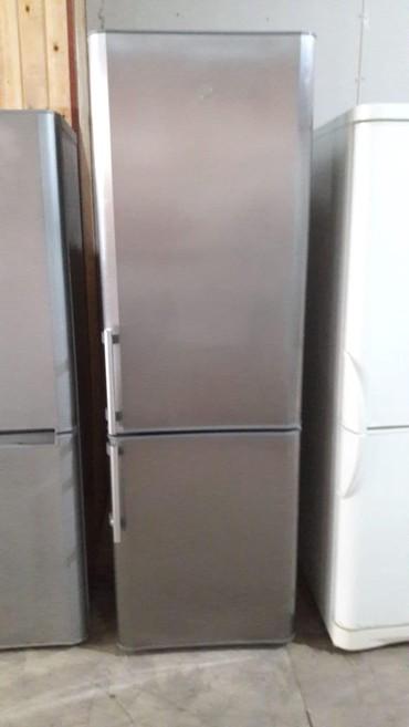 zhenskaya parka в Азербайджан: Б/у Двухкамерный Серебристый холодильник Indesit