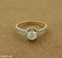 Золотое красивое кольцо, размер 17. 5 в Бишкек