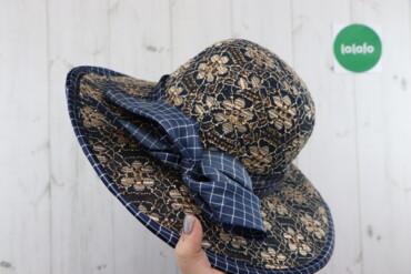 Жіночий плетений капелюх з декором   Загальний діаметр: 40 см Діаметр