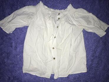 рубашка от mexx в Кыргызстан: Белая рубашка/крестьянка  Можно открыть плечи  Размер S