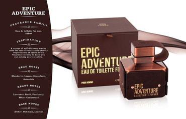 Bakı şəhərində Epic Adventure by Emper for Men Eau de Toilette 100ml-40azn. Qutularin