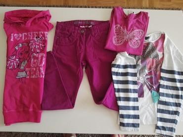 Farmerke-y - Srbija: Paketic,128 velicina, farmerke, duksic, majica dug rukav x 2