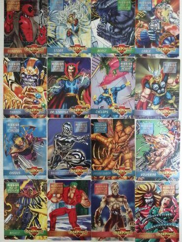 Πακέτο καρτών από σούπερ ήρωες της Marvel.Το παιχνίδι λέγεται