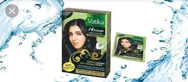 Bakı şəhərində Vatika saç üçün təbii xna:Gara rəngli saç xnası.Saçın