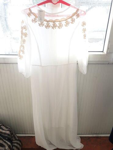 Белое платье на кыз узатуу ни разу не одевали 1000 сомов есть уступка