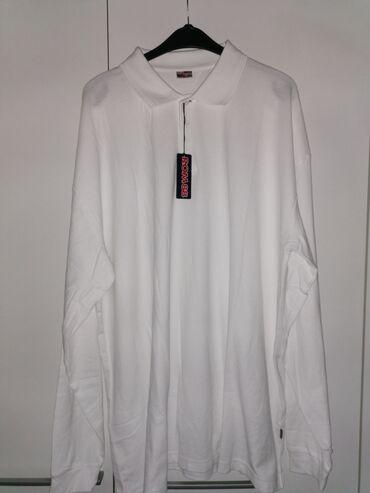 Majice na veliko - Srbija: Velika muska majica dugih rukava, sa kragnom, 7xl,do 170kg, nova, dve