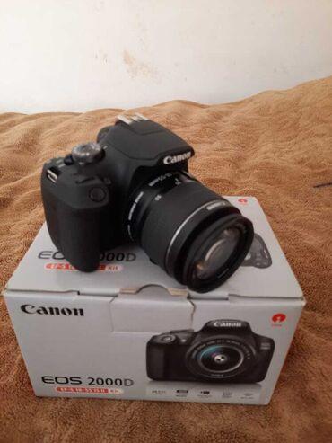 Canon 2000d Yeni Body+lens18-55mm+qutu+Batareya 1ədəd+kitapca və Zəman