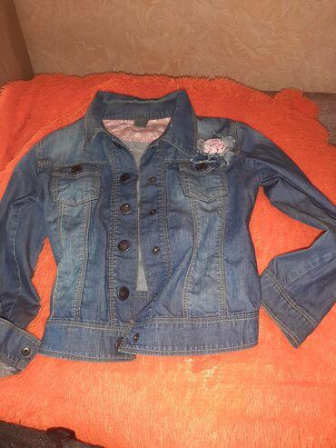 Курточка джинсовая Zara kids на девочку 6-8лет, красивая, мягкая очень