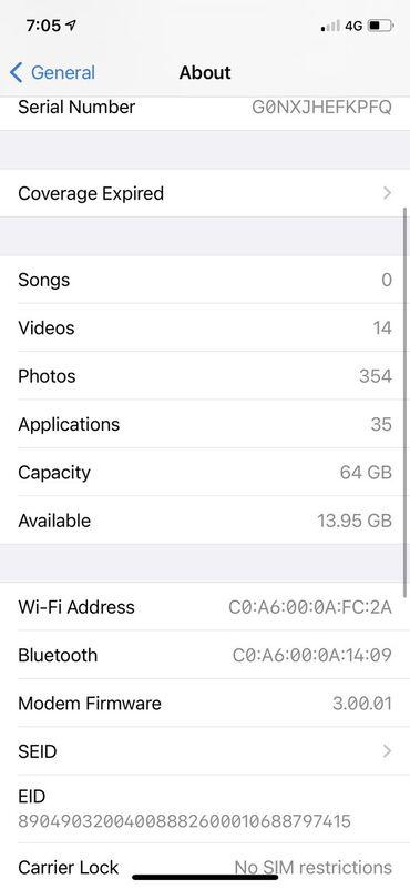 Elektronika - Srbija: IPhone X | 64 GB | Silver Polovni | Face ID