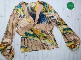 Красивая атласная женская блуза Canna      Длина: 61 см Рукава: 67 см