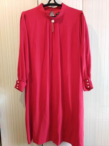 вечерние платья 50 размера в Кыргызстан: Продаю красивое красное вечернее платье. Размер 50