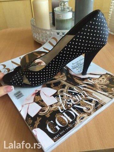 Cipele, 37, obuvene par puta u odlicnom stanju,crne na tufnice - Pozega