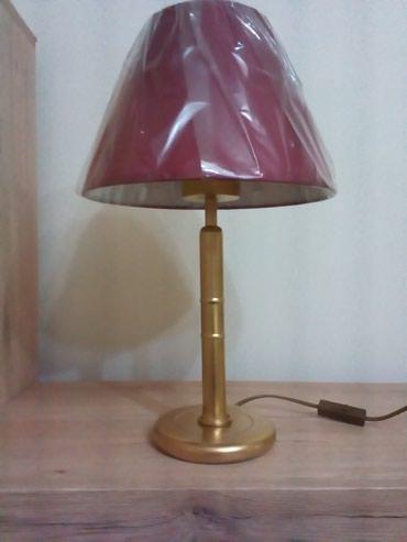 Lampa je visoka 45cm. Osnova i stub su od metala. Abažur je nov i - Nis