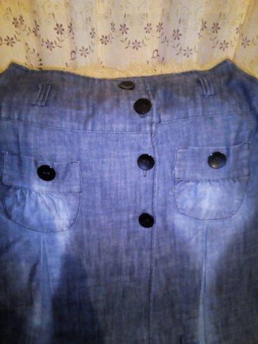 Lagani teksas, nova suknja, dužina 72cm, struk 80cm - Beograd