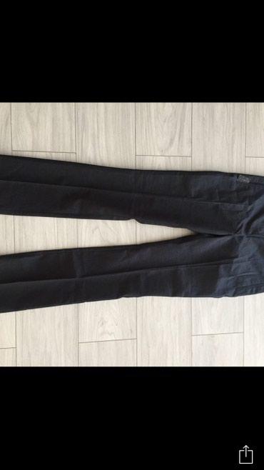 Женские брюки в Чаек: Стильные женские брюки Mango в мелкую полоску Цвет: темносиний Размер