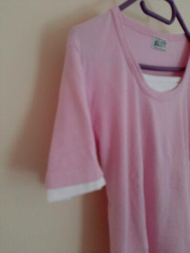 Majica zenska roza. Vel M. Prijatan materijal