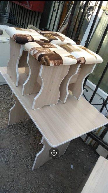 Комплекты столов и стульев в Кыргызстан: Кухонный стол 4 табуретки