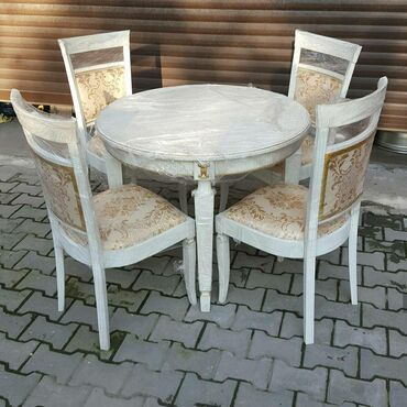 stol kuhannyj в Кыргызстан: Продаю новый комплект, круглый стол, диаметр 0.93м. 4