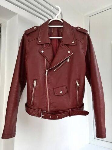 Кожаная куртка темно бордового цвета.Хорошее качество. Карманы
