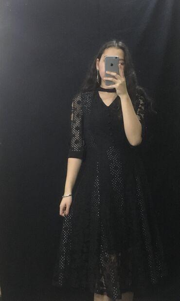 чёрное вечернее платье в пол в Кыргызстан: Вечерние а также повседневные платья на продажу и на прокат (3 дня)  ц