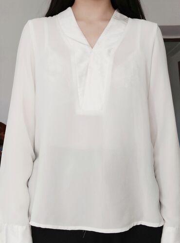 Полупрозрачная классическая блузка miaразмер м состояние