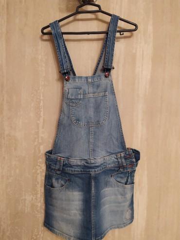 брюки джинсы комбинезоны в Азербайджан: Комбинезон одевался пару раз привезенный.36-38раз