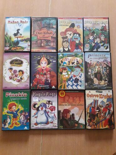 Dvd original crtani filmovi, 63 komada u kompletu, svi u ispravnom