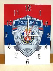 Ostalo | Smederevska Palanka: Policija. Zidni sat. 27x35 cm. Izrada satova po zelji