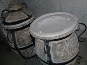 чугунный тандыр в Кыргызстан: Тандыр керамический . для мясных блюд и лепёшки самсы . высота