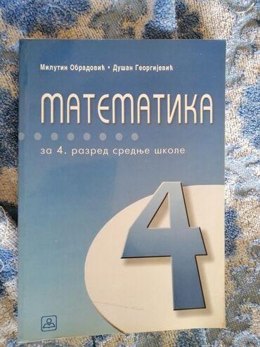 Knjige, časopisi, CD i DVD | Ivanjica: Matematika za 4.razred srednje skole