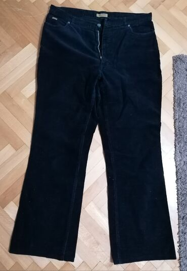 Pantalone ženske,Br.44, iz Engleske, somot, teget, ima elastinDužina