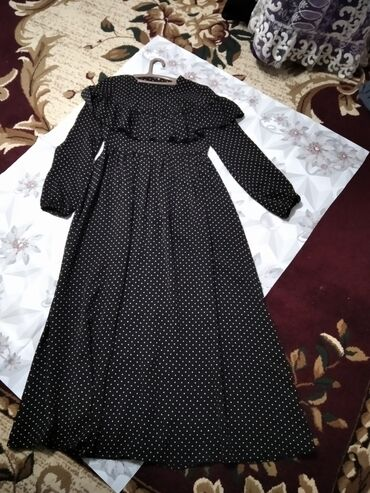 Чёрное платье 46р  Розовое турецкое L