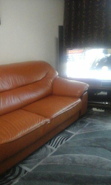 Диваны - Каинды: Продаётся кожаная мебель.цена 20000т сом