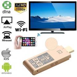 Аксессуары для ТВ/видео в Кыргызстан: ТВ адаптер 2Х2. MiraScreen Беспроводной Wi-Fi HDMI дисплей Dongle 2,4
