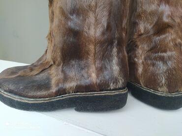 сапоги мужские в Кыргызстан: Мужские сапоги- Унты. Из шкуры оленя 42ой размер. Новые. Продам за