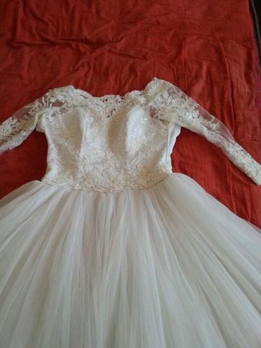 Продаю свадебное платье, очень красивое. размер 44. с фатой и чулками в Кок-Ой
