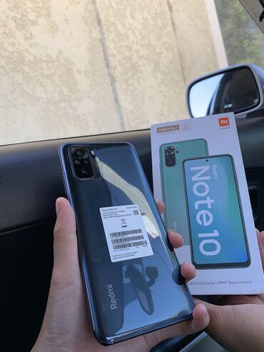 ипотека в бишкеке без первоначального взноса in Кыргызстан   XIAOMI: Xiaomi Redmi Note 10   64 ГБ   Черный   Гарантия, Сенсорный, Отпечаток пальца